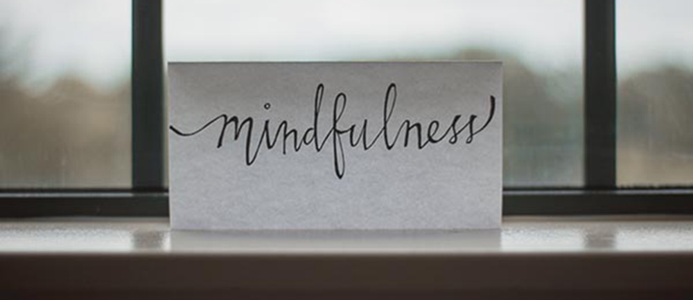 piece of paper with mindfulness written on it