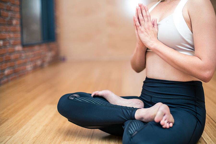 Mediating person - being healthy and stress free
